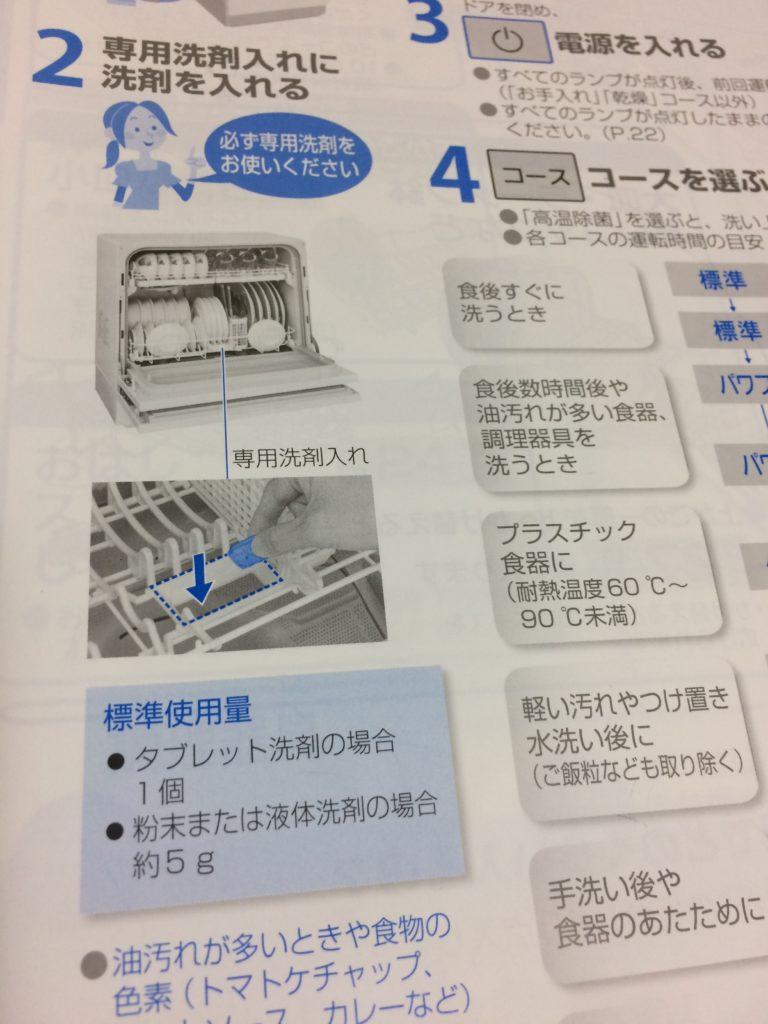 食洗機取扱説明書の12p