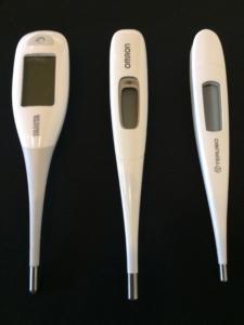 3つの体温計